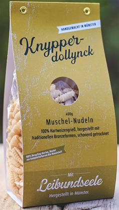 Leibundseele Knypperdollynck - Muschelnudeln aus Hartweeizengrieß 400g