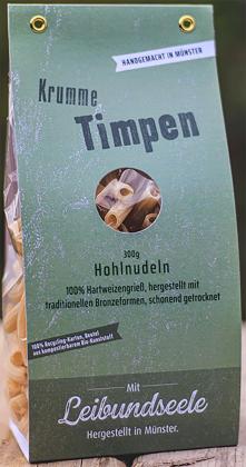 Leibundseele Krumme Timpen - Hohlnudeln aus Hartweizengrieß 300g