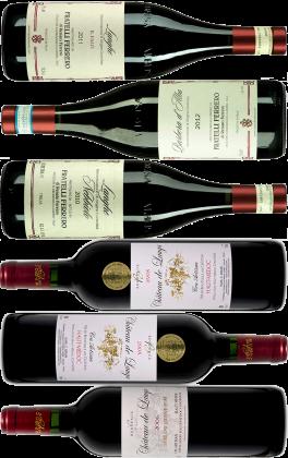 Probierpaket Nr. 62: Neue Rotweine aus Bordeaux & Piemont