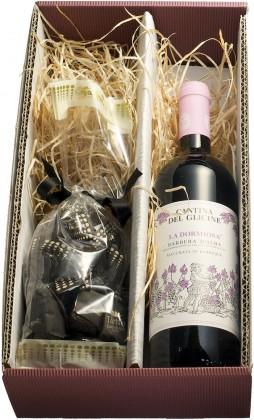Geschenkset Rotwein & Schokotrüffel